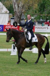 Heath Ryan Leads Australian International 3 Day event #cross-country today www.horseoz.com